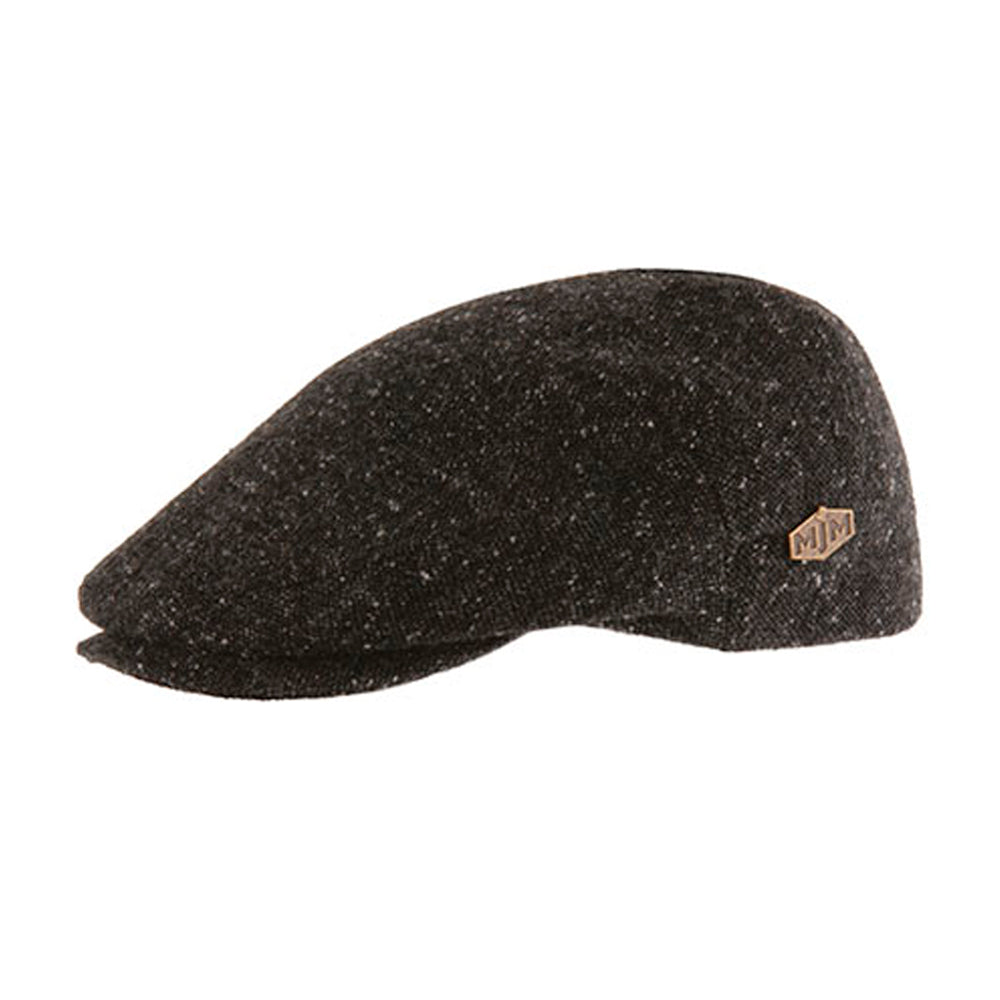 MJM Hats New York Sixpence Flat Cap Grey Grå