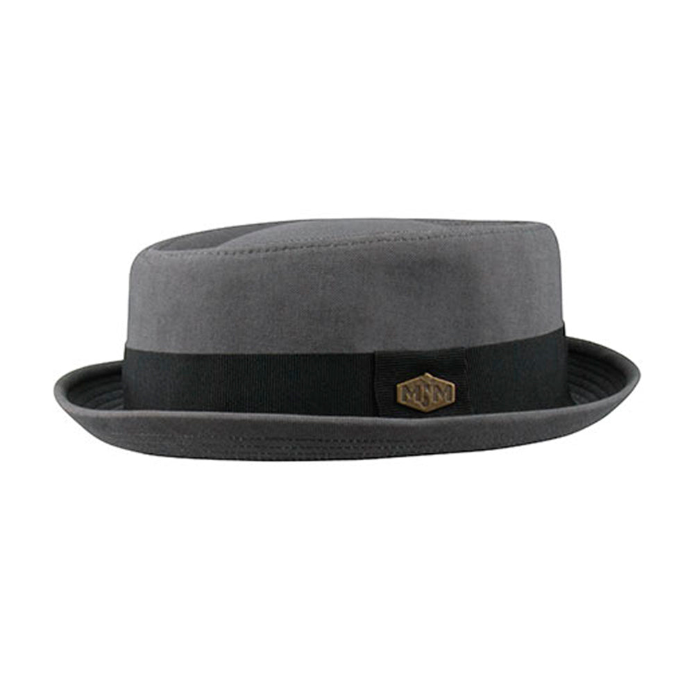 MJM Hats Popeye Fedora Grey Black Grå Sort