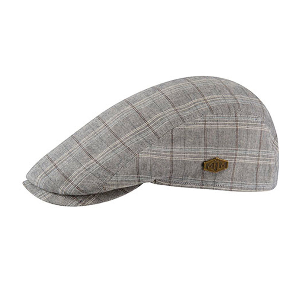 MJM Hats Young Sixpence Flat Cap Grey Grå