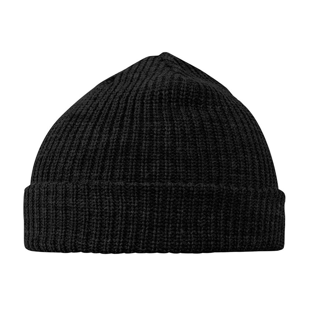 Headzone Fisherman Rib Short Beanie Fold Huer Kort Huer Black Sort