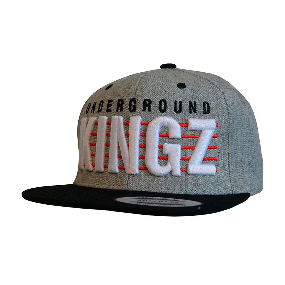 Mister Tee Kingz Snapback Grey Black Grå Sort