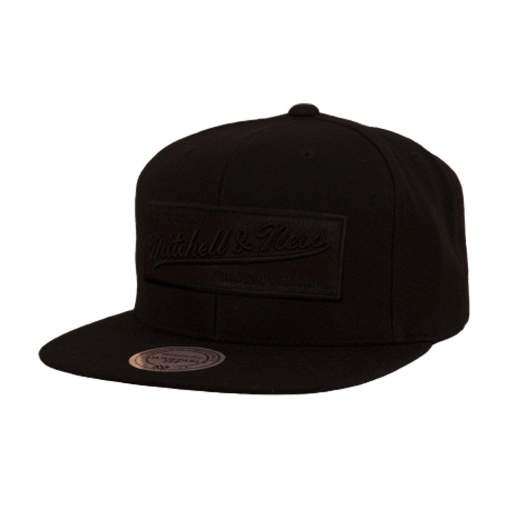 Mitchell & Ness 2 Tone Label Snapback Black on Black Sort