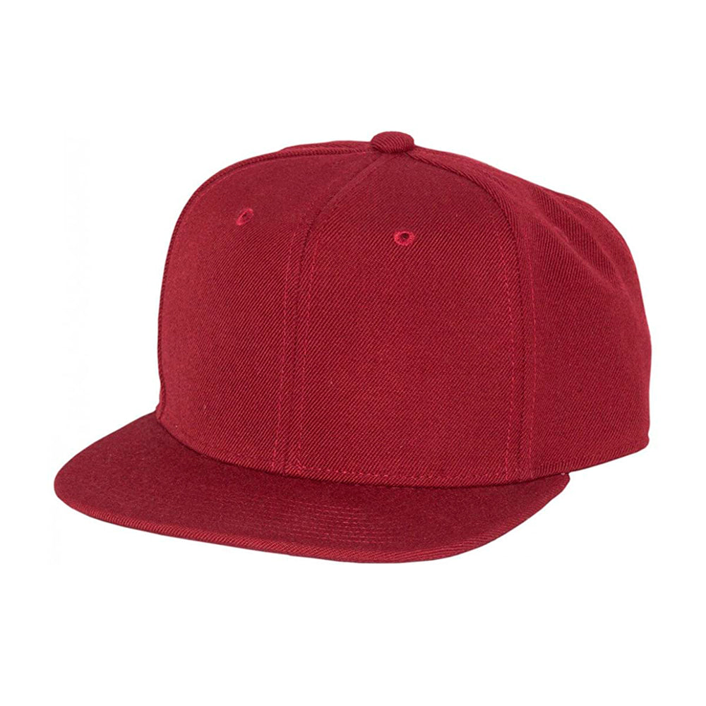 Mitchell & Ness Blank High Crown Snapback Maroon Burgundy Rød