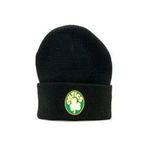 Mitchell & Ness - Boston Celtics Team Logo Knit Cuff - Beanie - Black