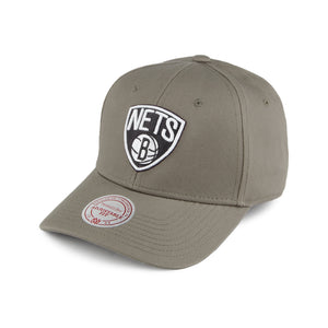 Mitchell & Ness Cap Brooklyn Nets Low Pro Olive Justerbar