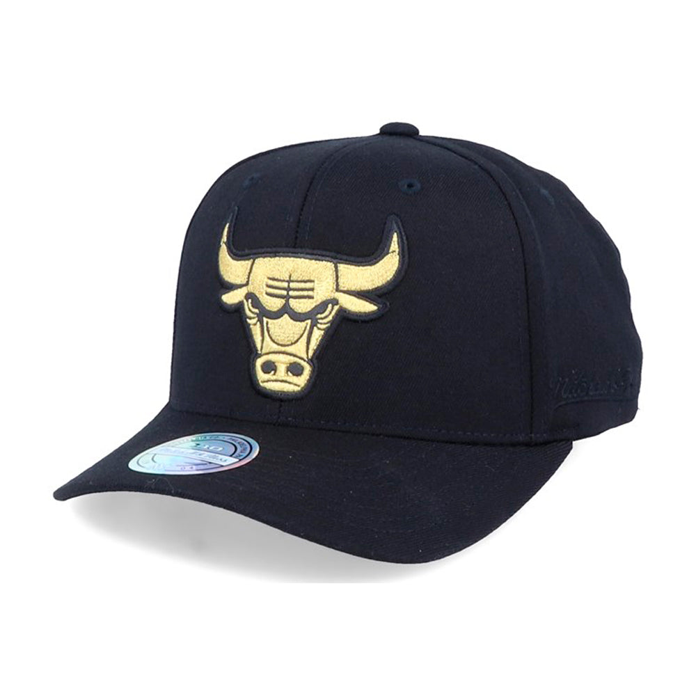 Mitchell & Ness NBA Chicago Bulls Bullion Snapback Black Gold Sort Guld