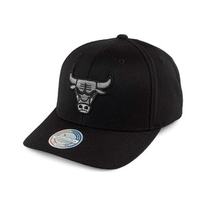 Mitchell & Ness NBA Chicago Bulls Melange Logo Snapback Black Melange Sort Grå