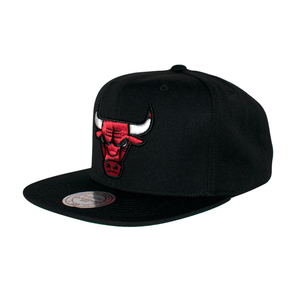 Mitchell & Ness Chicago Bulls Wool Solid Snapback Black Sort