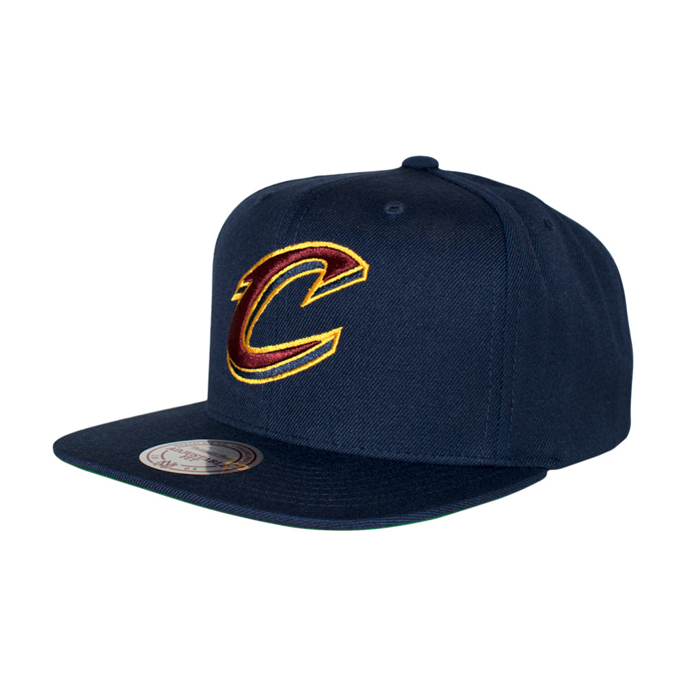 Mitchell & Ness Cleveland Cavaliers Wool Solid Snapback Navy Blå