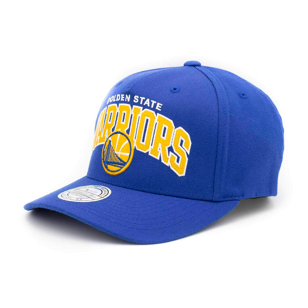Mitchell & Ness Golden State Warriors Team Arch Pinch Panel 110 Snapback Blue Blå
