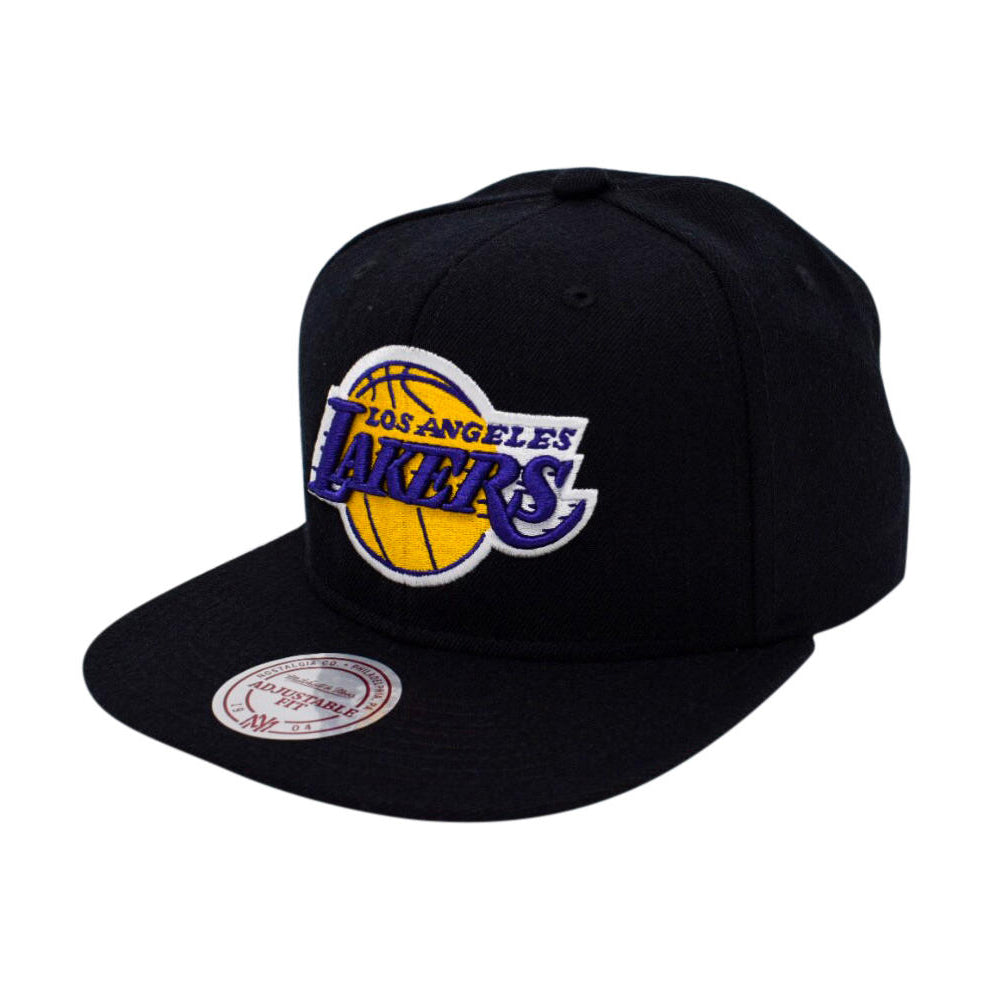 Mitchell & Ness LA Lakers Wool Solid Snapback Black Sort