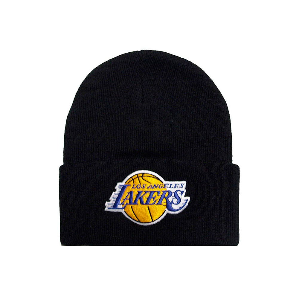Mitchell & Ness Los Angeles Lakers Team Logo Knit Cuff Beanie Black Sort