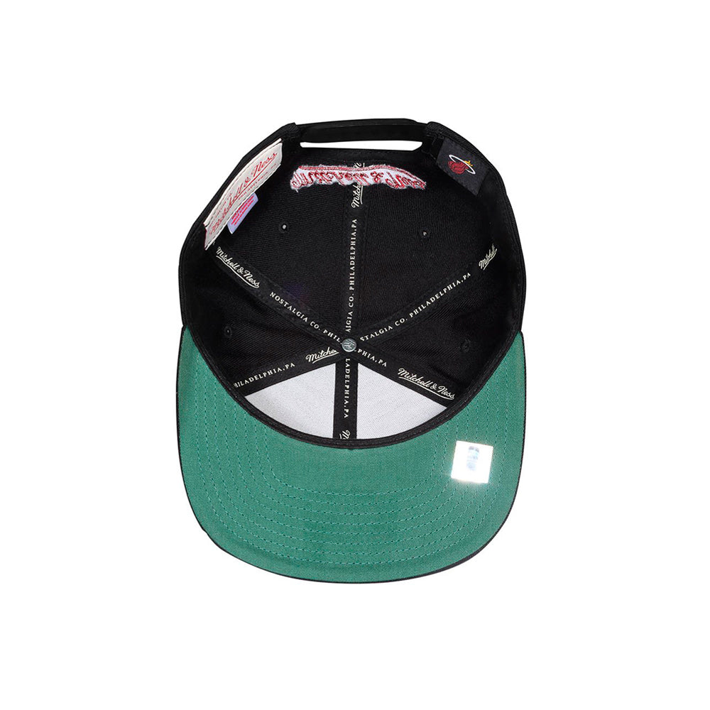 Mitchell & Ness NBA Miami Heat Snapback 405 Black Sort