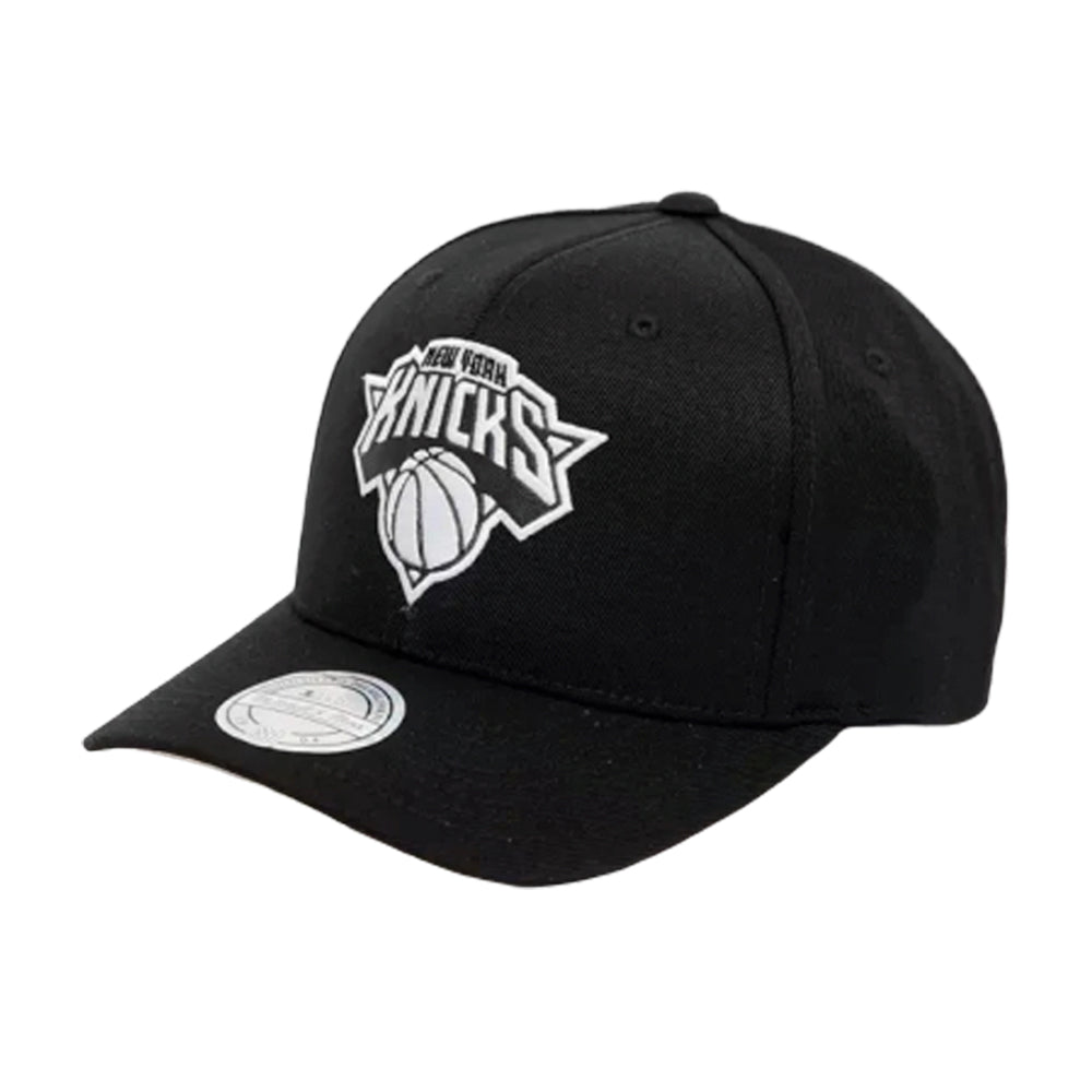 Mitchell & Ness New York Knicks 110 Outline Snapback Black White Sort Hvid