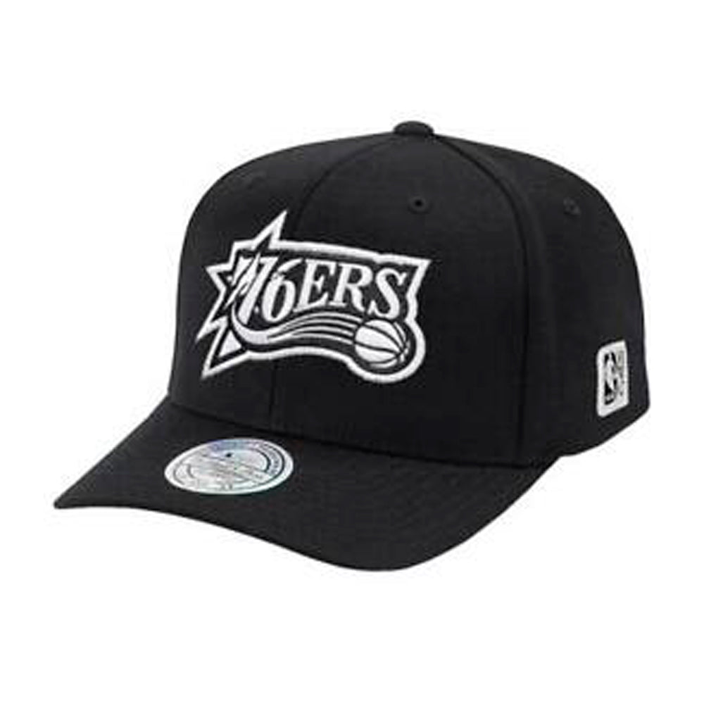 Mitchell & Ness Philadelphia 76ers Outline Snapback Black Sort MN-HWC-INTL478