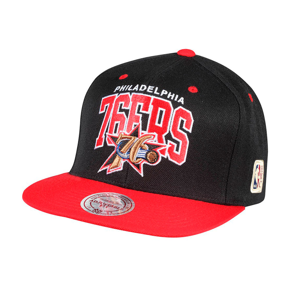 Mitchell & Ness NBA Philadelphia 76ers Snapback 226 Red Black Rød Sort