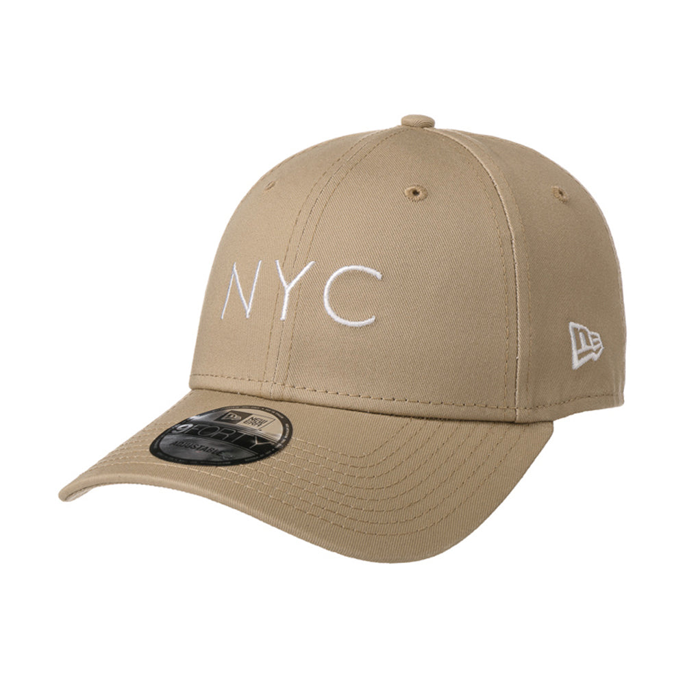 New Era NYC Essential 9Forty Adjustable Camel Beige
