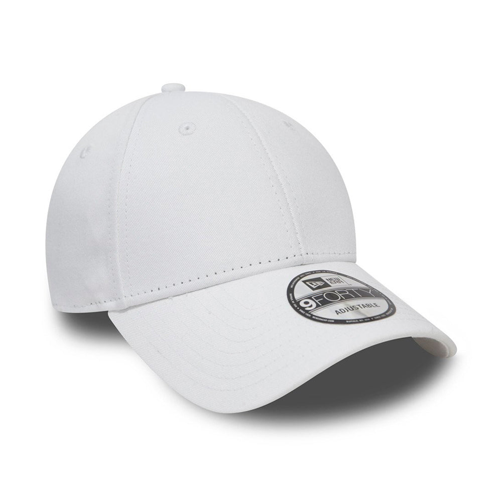 New Era Basic Cap 9Forty Adjustable White Hvid 11179829