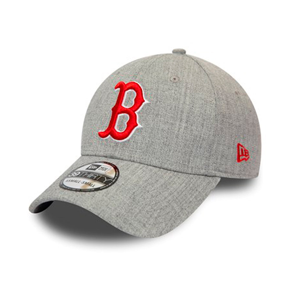 New Era Boston Red Sox 39Thirty Flexfit Heather Grey Grå Rød