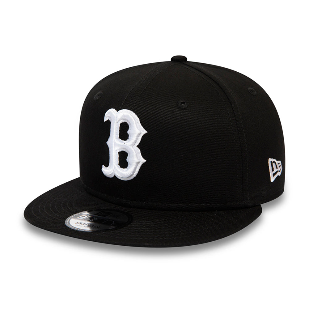 New Era Boston Red Sox 9Fifty Snapback Black White Sort Hvid