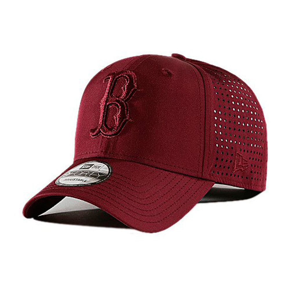 New Era Boston Red Sox 9Forty Feather Perf Adjustable Maroon Wine Rød
