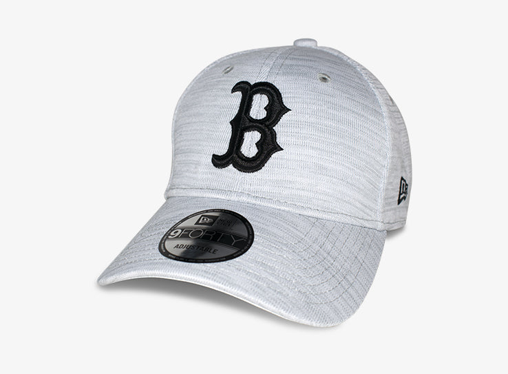 New Era MLB Boston Red Sox Engineered 9Forty Adjustable Justerbar Black White Sort Hvid
