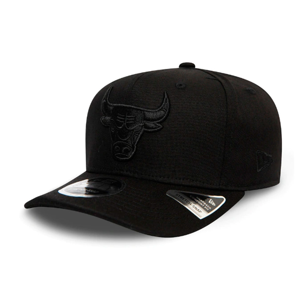 New Era NBA Chicago Bulls 9Fifty Stretch Snap Snapback Black on Black Sort Sort 12285245