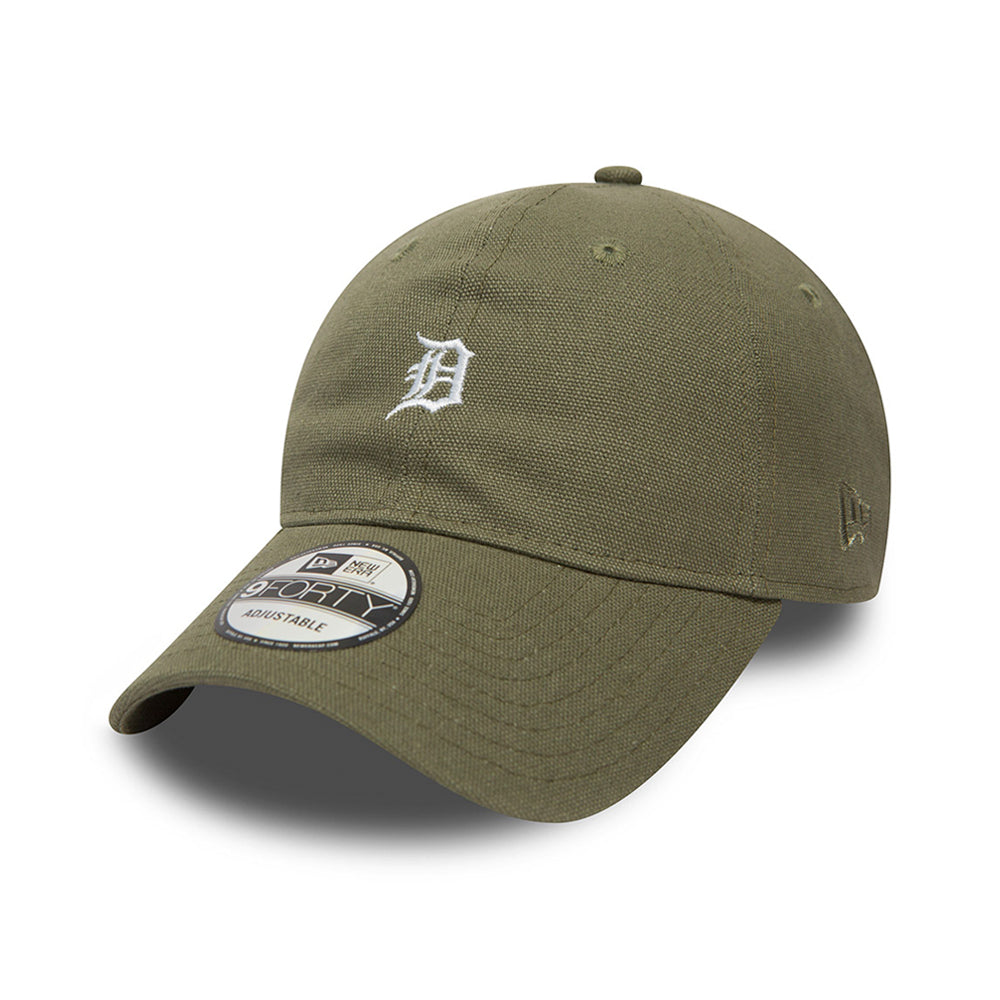 New Era Detroit Tigers 9Forty Justerbar Canvas Olive Green Grøn