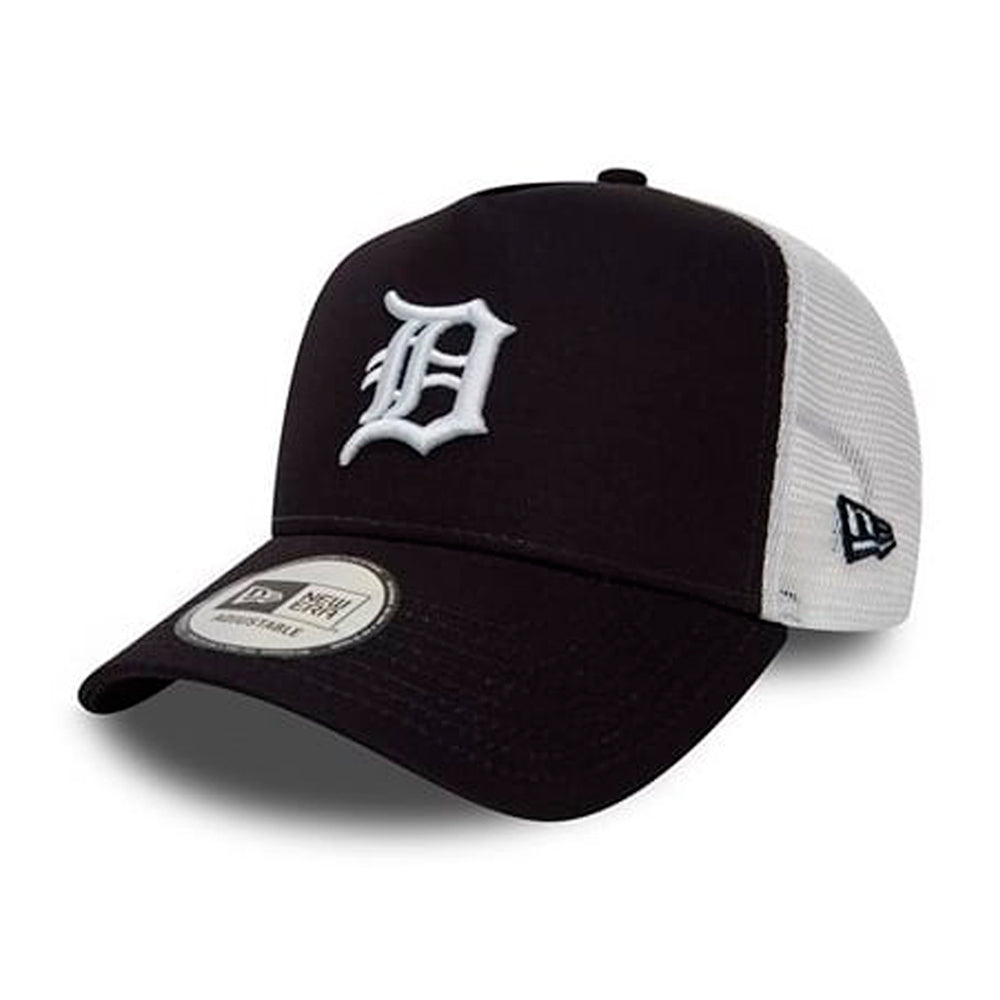 New Era Detroit Tigers Essential Trucker Snapback Black White Sort Hvid