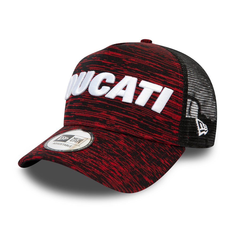 New Era Ducati Engineered A Frame 9Forty Trucker Snapback Black Red Sort Rød