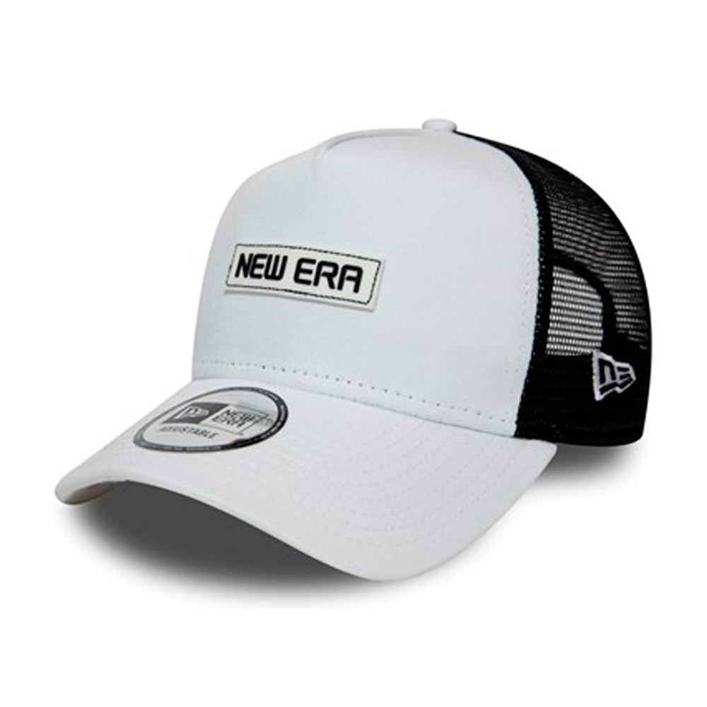 New Era Essential A Frame Trucker Snapback White Hvid