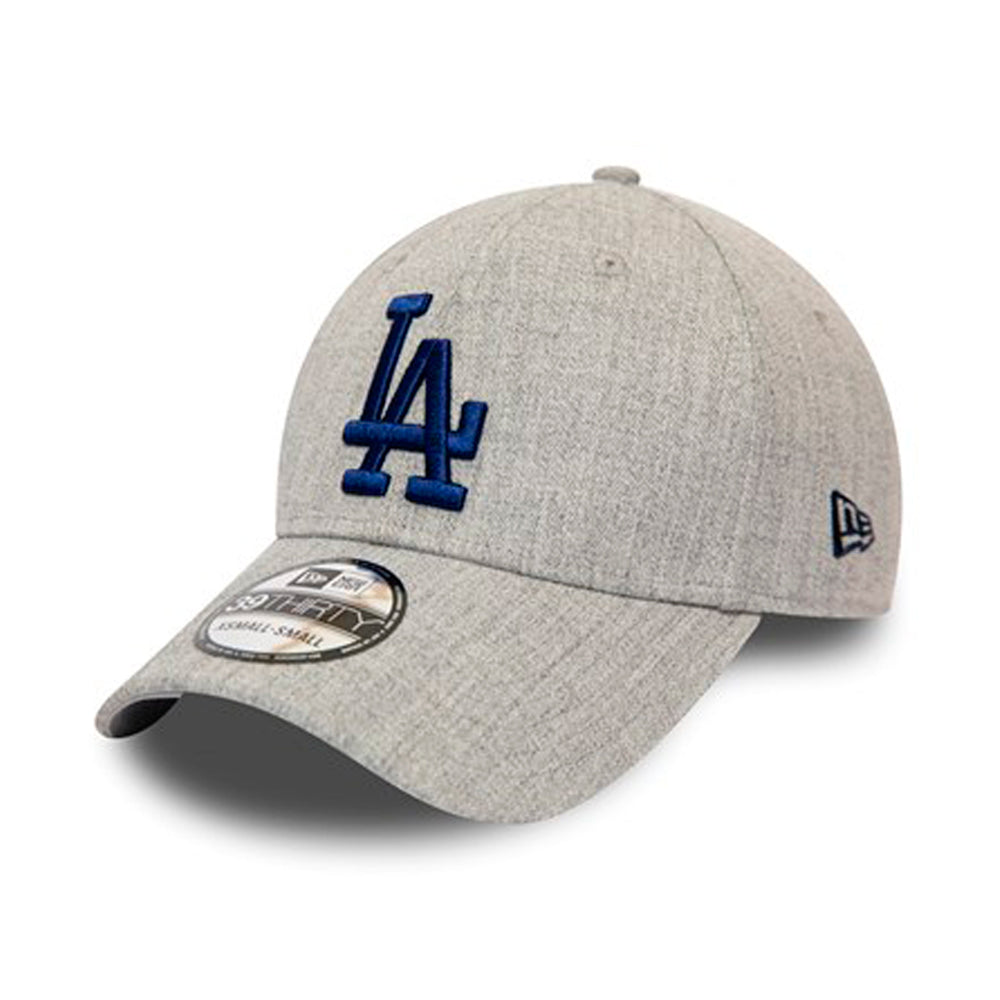 New Era LA Los Angeles Dodgers 39Thirty Flexfit Heather Grey Blue Grå Blå
