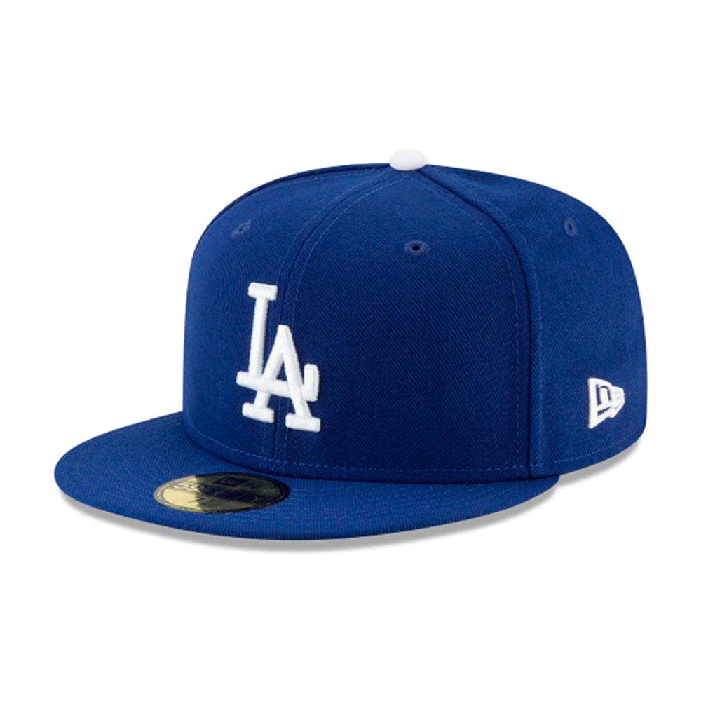 New Era MLB Los Angeles LA Dodgers 59Fifty Authentic Fitted Blue White Blå Hvid