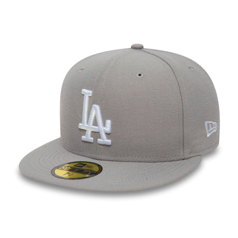New Era MLB Los Angeles LA Dodgers 59Fifty Essential Fitted Grey White Grå Hvid 10531950