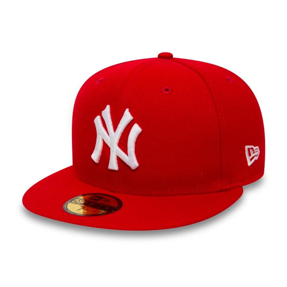 New Era MLB New York NY Yankees 59Fifty Essential Fitted Red White Rød Hvid 10011573