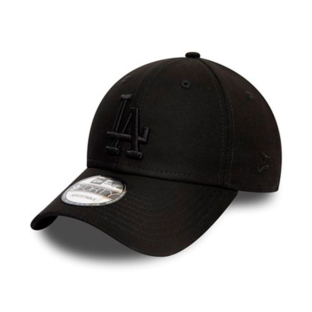 New Era MLB Los Angeles LA Dodgers 9Forty Justerbar Black on Black Sort på Sort