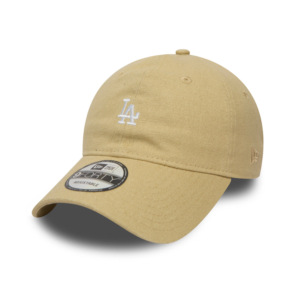 New Era Los Angeles Dodgers 9Forty Justerbar Canvas Stone Beige
