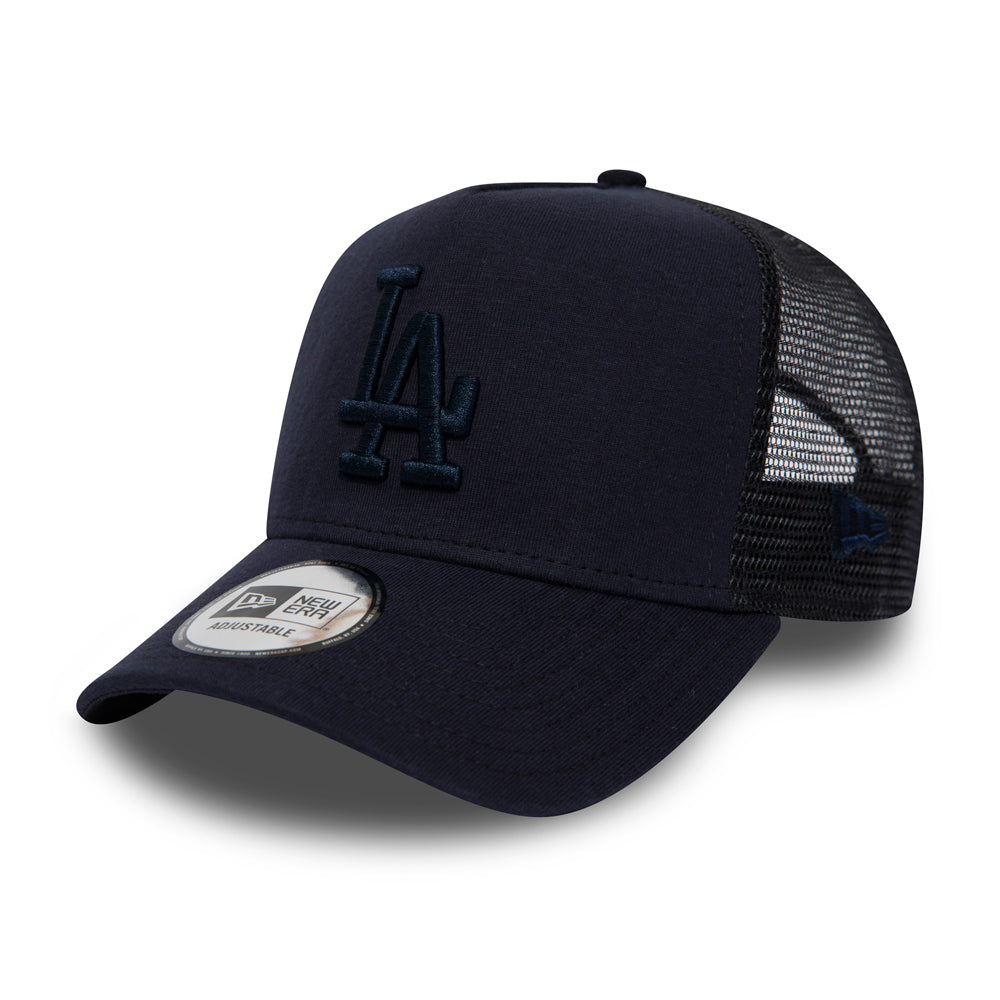 New Era LA Los Angeles Dodgers Essential Jersey Trucker Snapback Navy Blå