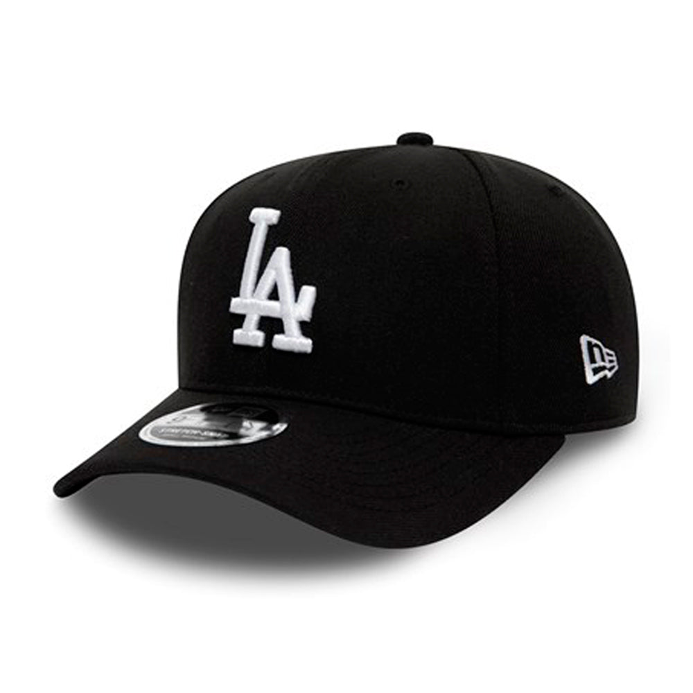New Era LA Los Angeles Dodgers Stretch Snap 9Fifty Snapback Black White Sort Hvid