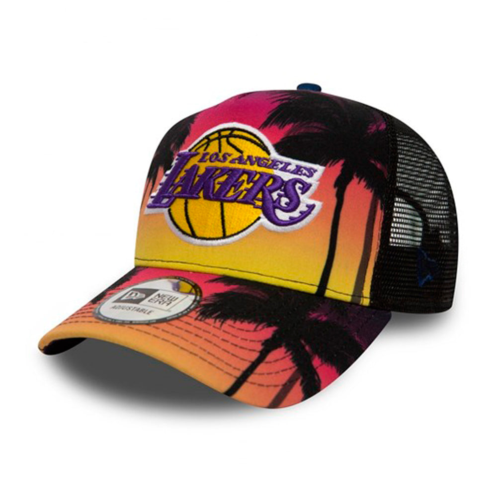 New Era NBA LA Lakers Coastal Trucker Snapback Pink Yellow Lyserød Gul