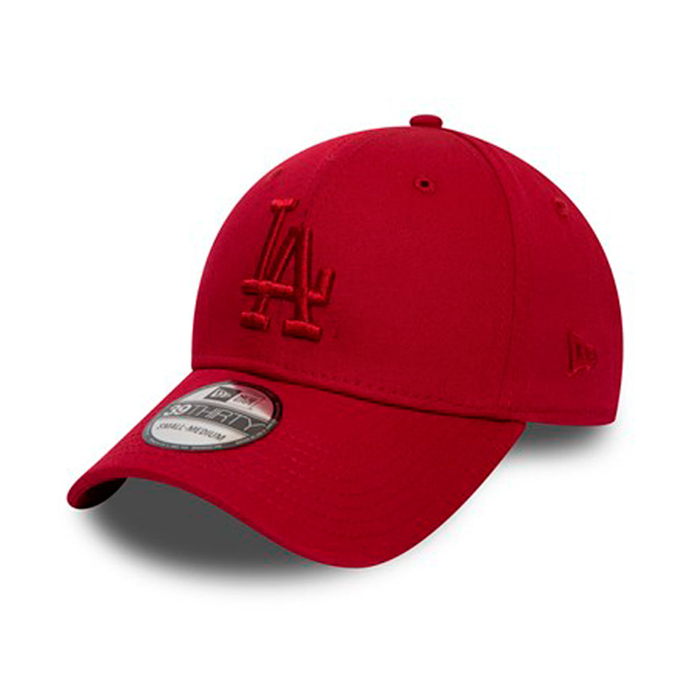 New Era MLB Los Angeles LA Dodgers 39Thirty Flexfit Red on Red Rød