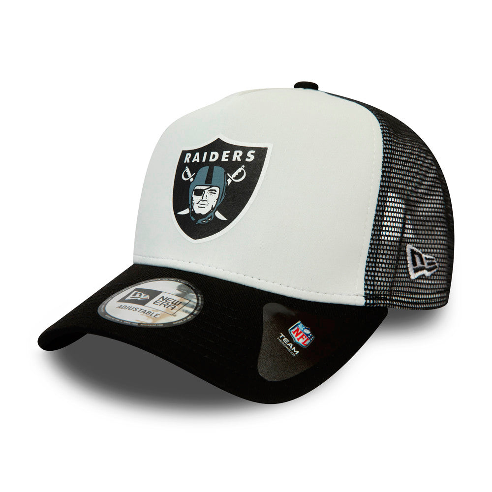 New Era NFL Las Vegas Raiders Team Colour Block Trucker Snapback White Black Hvid Sort 12380795
