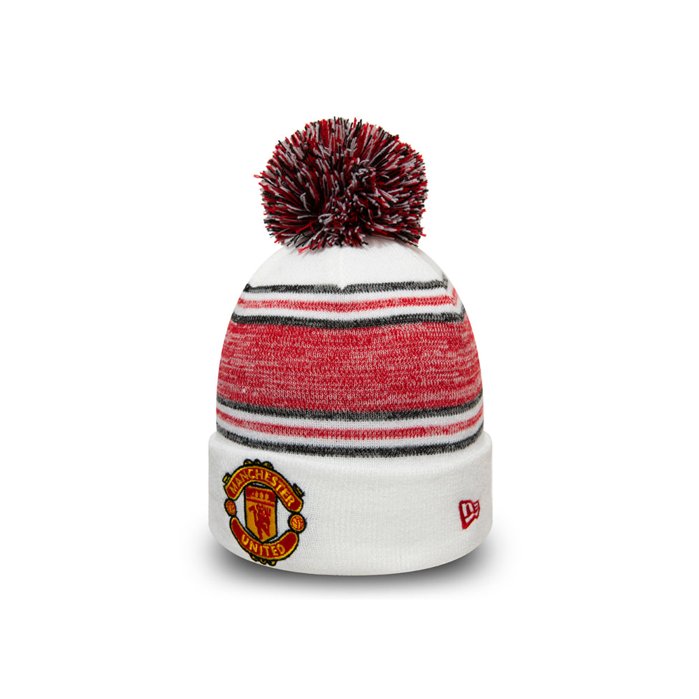 New Era Man Utd Manchester United FA19 Bobble Knit Pom Beanie White Hvid