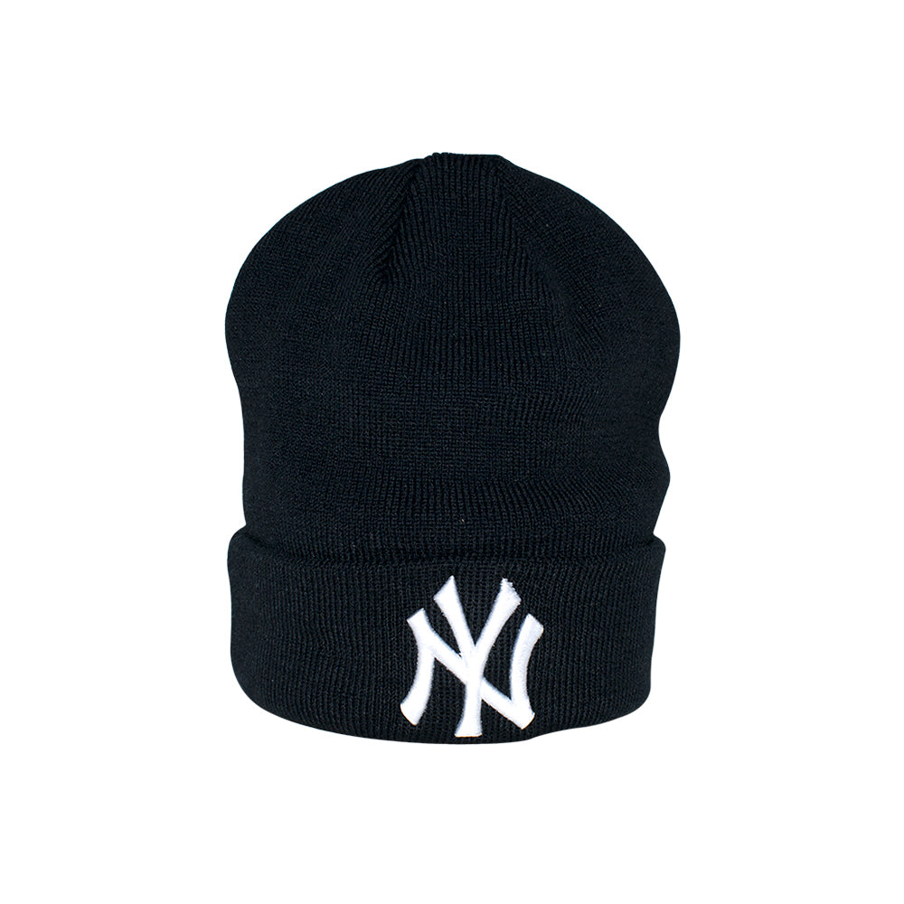New Era NY Basic Knit Beanie Navy Blå Cuff Fold Hue