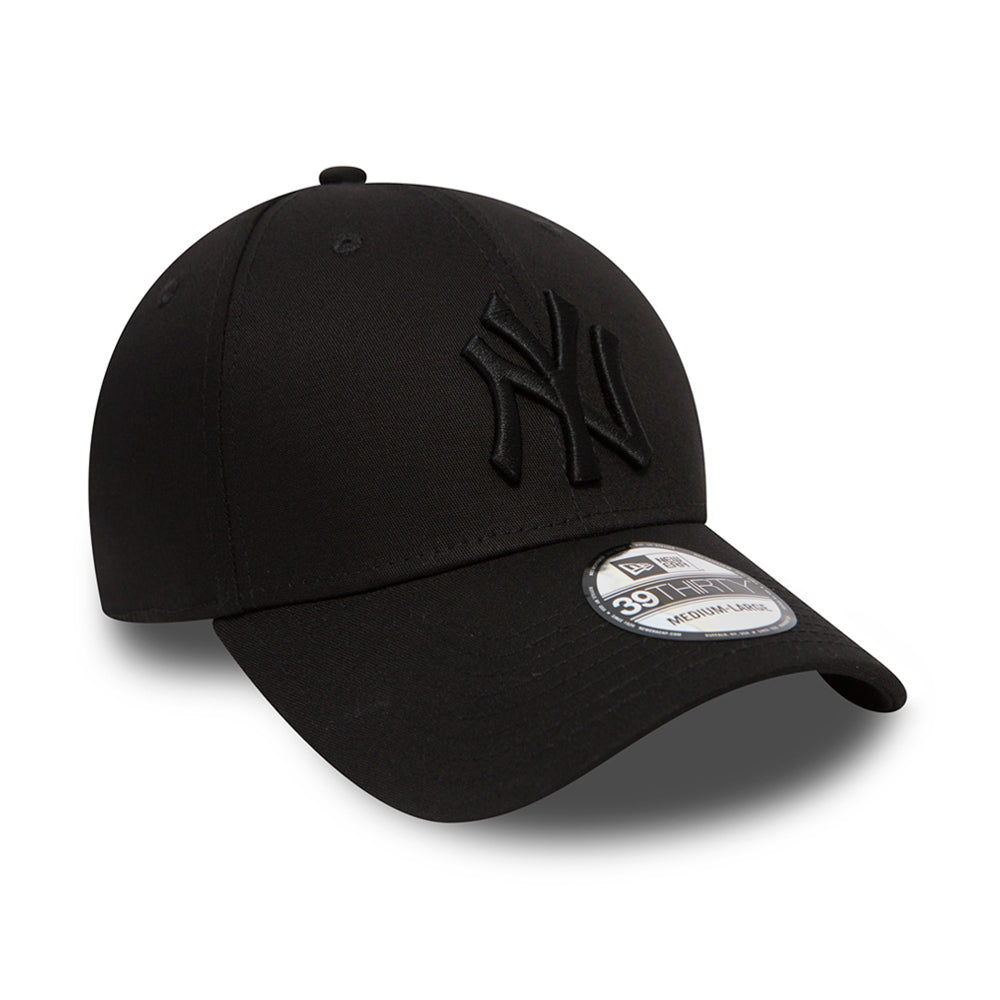 New Era NY New York Yankees 39thirty Flexfit Black Black Sort