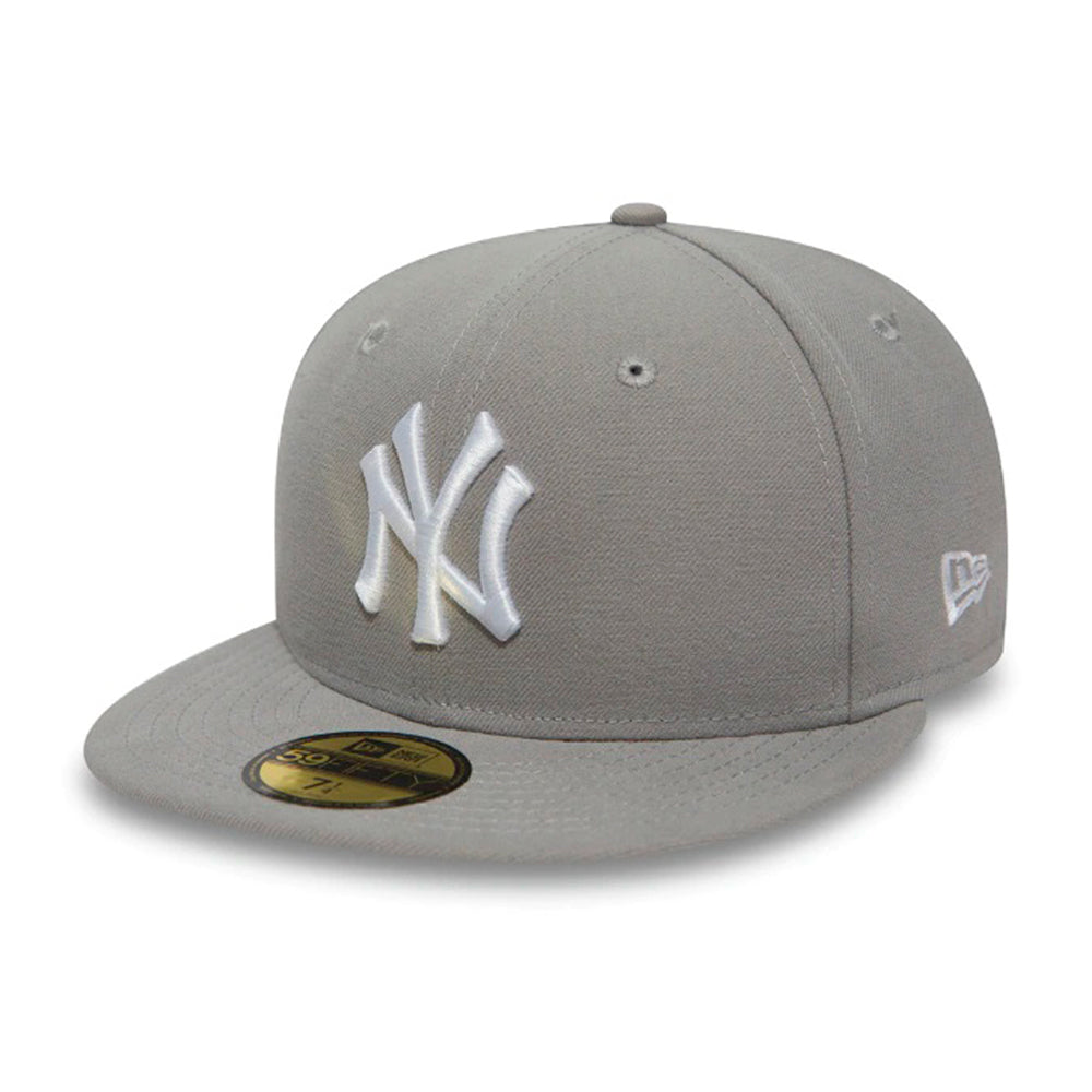 New Era MLB New York NY Yankees 59Fifty Essential Fitted Grey White Grå Hvid 10003438