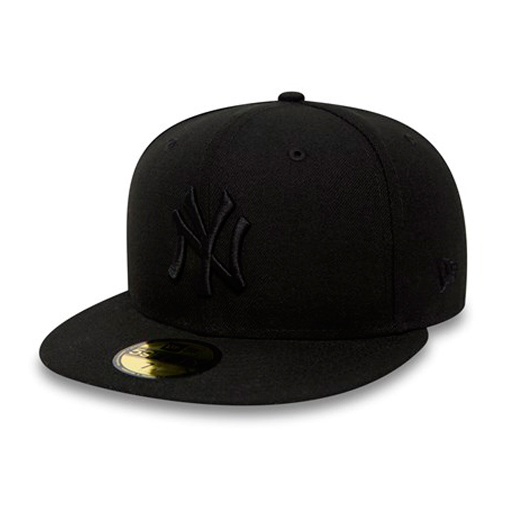 New Era NY New York Yankees 59Fifty Fitted Black on Black Sort på Sort