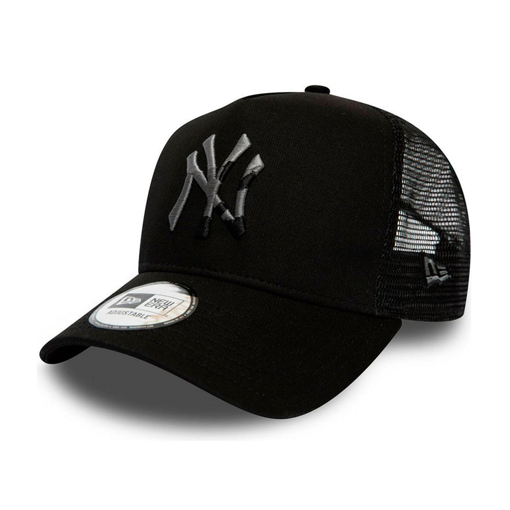 New Era NY Yankees 9 Forty Camo Logo Infill Kids Trucker Snapback Black Sort