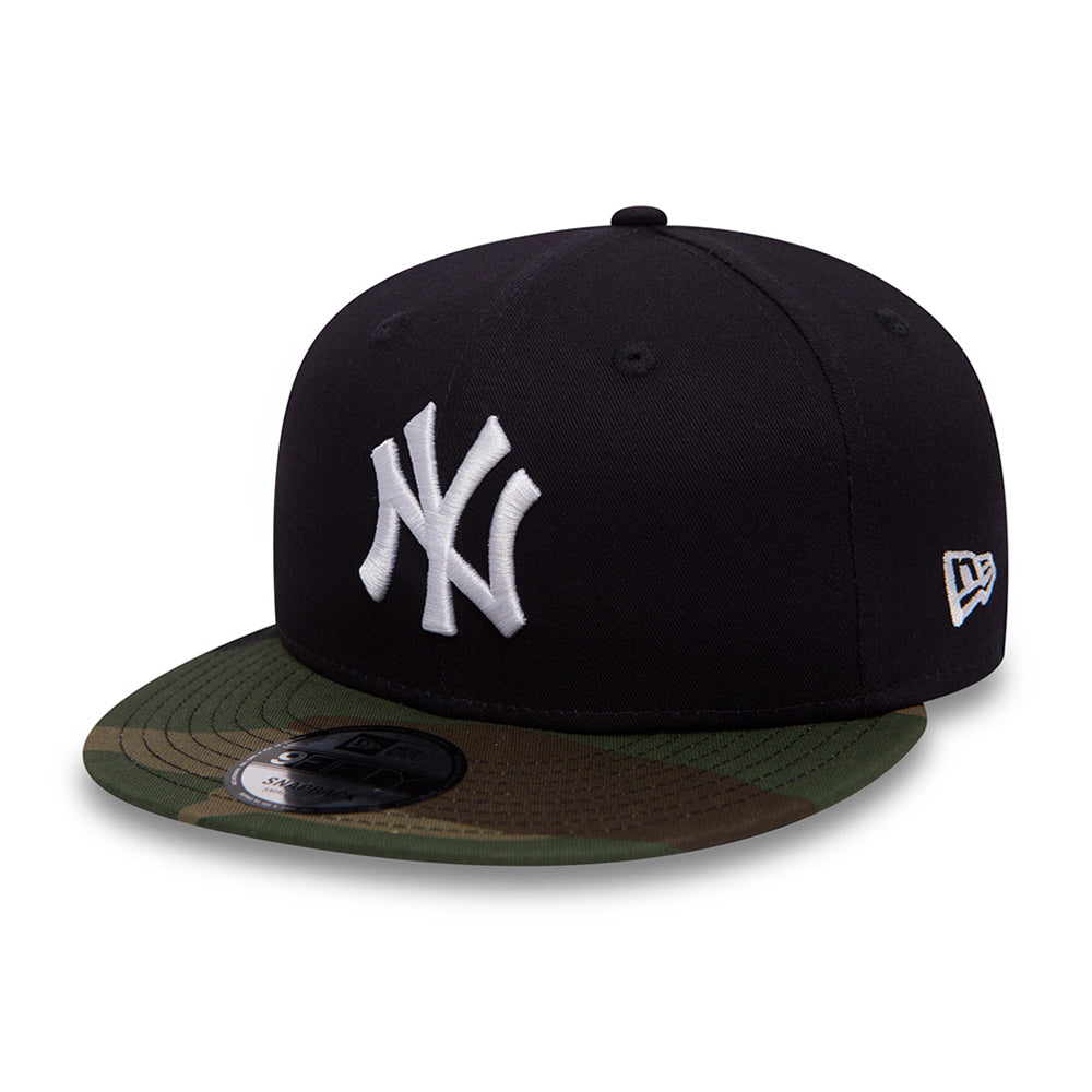 New Era NY Yankees 9Fifty Snapback Navy Camo Mørkeblå Blå
