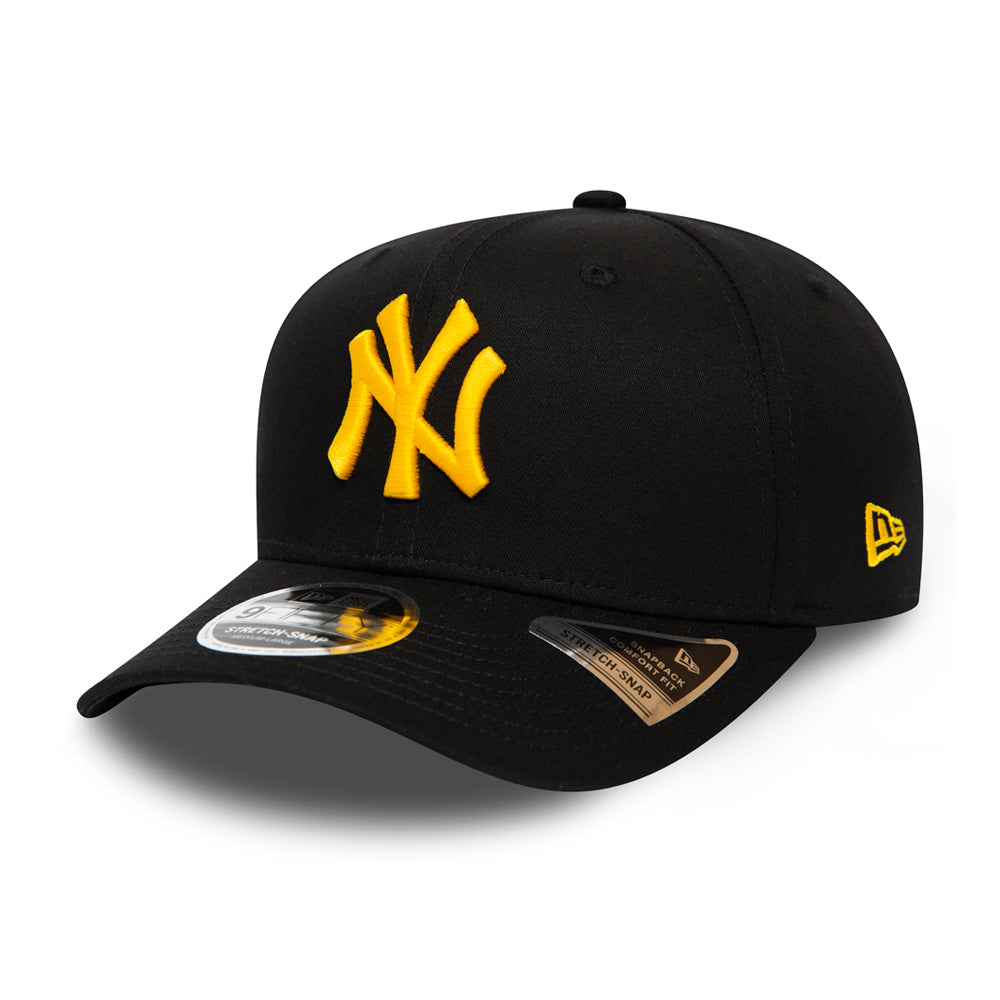 New Era MLB New York NY Yankees 9Fifty Stretch Snap Snapback Black/Yellow Sort Gul 12285384